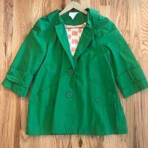 Tulle Green Raincoat